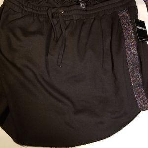 BNWT PLUS SIZE Casual Black skirt w/ sparkle trim